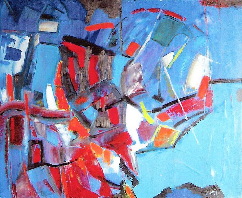 """""""Composition 151"""" Pierre BOUTRY huile 100x81"""