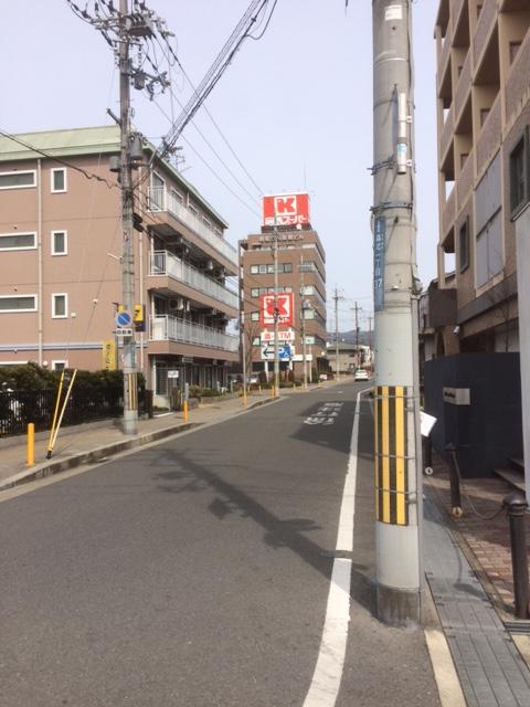 関西スーパーさんの方向へ進みます。