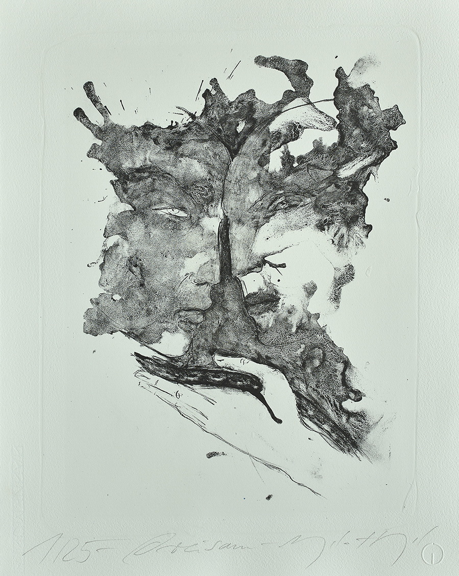 Edition 37. Dresdner Graphikmarkt 2018: Angela Hampel, Dreisam, Lithografie