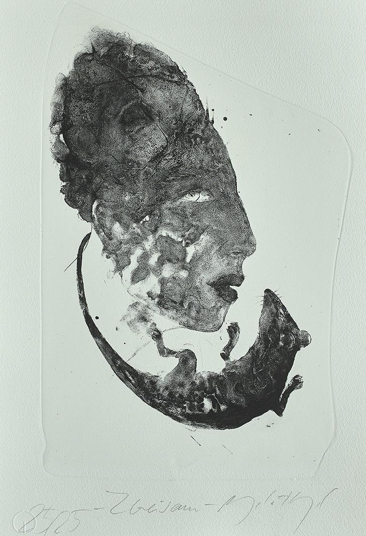 Edition 37. Dresdner Graphikmarkt 2018: Angela Hampel, Zweisam, Lithografie