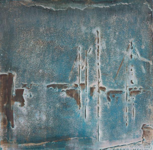 'HAVENTJE' BRONS GEPATINEERD  (45x45 cm)  fotografie Bart dertien