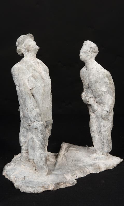 'HERENLEED'           BRONS GEPATINEERD    (23 cm hoog)         fotografie Bart Dertien