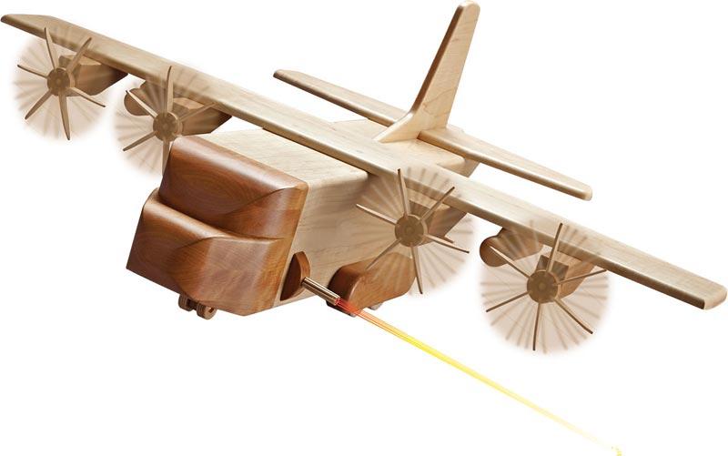 Mil Spec Ac 130 Gunship Plan Parts By Wood Magazine Schlabaugh
