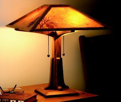 Wood Mission Lamp Plans