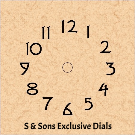 Exclusive S & Sons Clock Dials