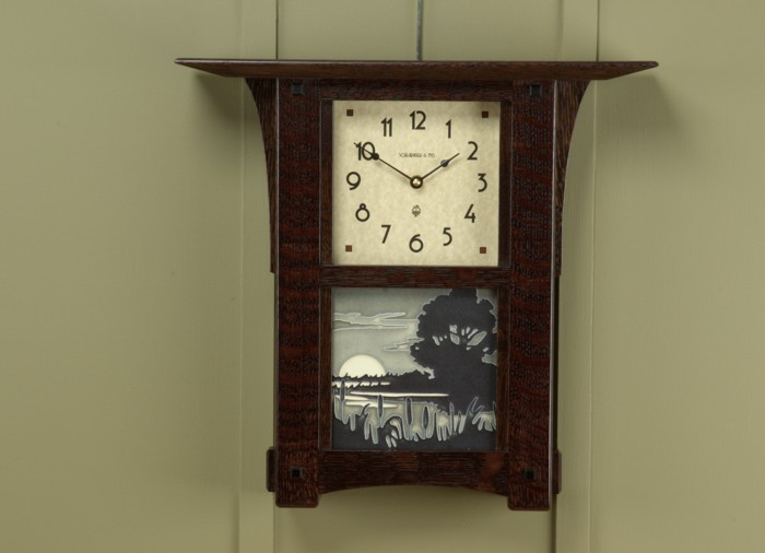Arts And Crafts Tile Wall Or Mantel Clock With Your Choice