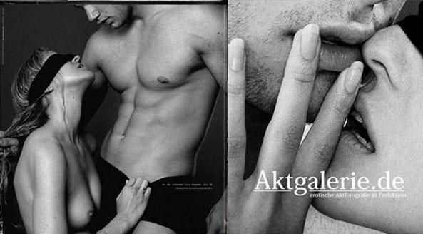 Erotische Paarfotos im Fotostudio fotografiert