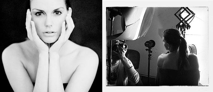 Erotisches Portrait Fotoshooting mit Aktfotograf im Fotostudio Hannover