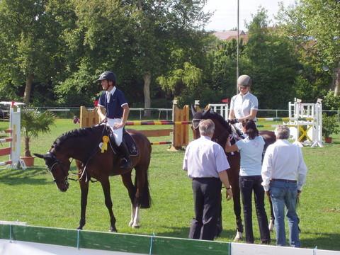Sichtung des WPSV  - Springprüfung Kl. M* - 2. Platz mit Narischa
