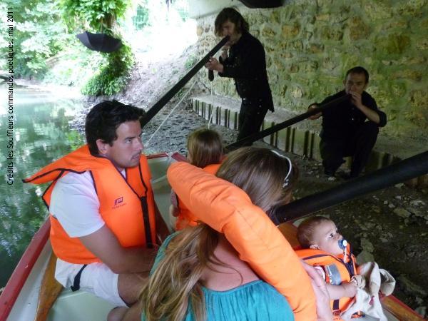 1er mai 2011 : Marquages poétiques sur les berges du Morin à Coulommiers