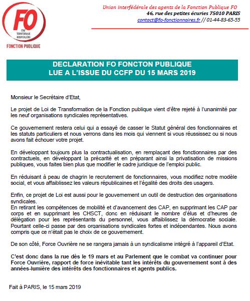 Activite Syndicale Fonction Publique 2019 Site De Ccrf Force