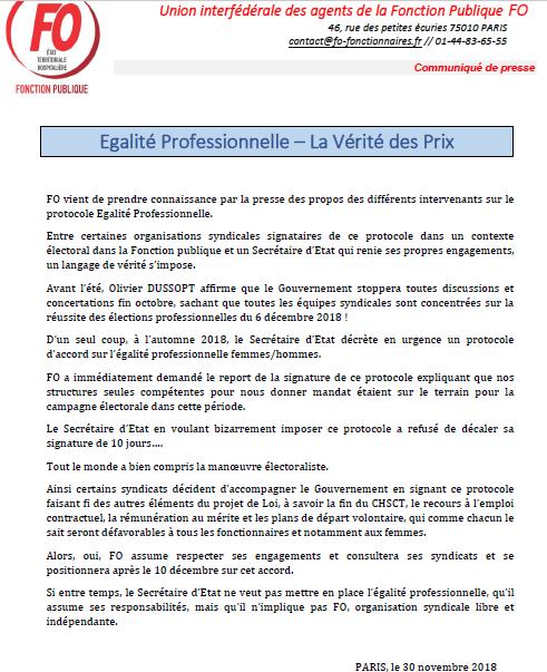 2ea89c7c46c Déclaration liminaire de FO Fonction Publique » - réunion tenue dans le  cadre de la concertation   « Refonder le Contrat Social avec les Agents  Publics » ...