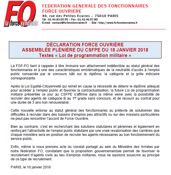Activite Syndicale Fp 2018 Site De Ccrf Force Ouvriere