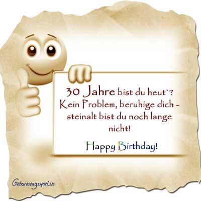 Sprüche für Glückwünsche 30. Geburtstag