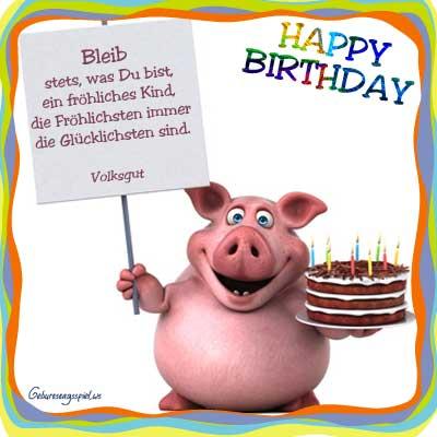 Geburtstagsbilder mit Grüßen für Kinder