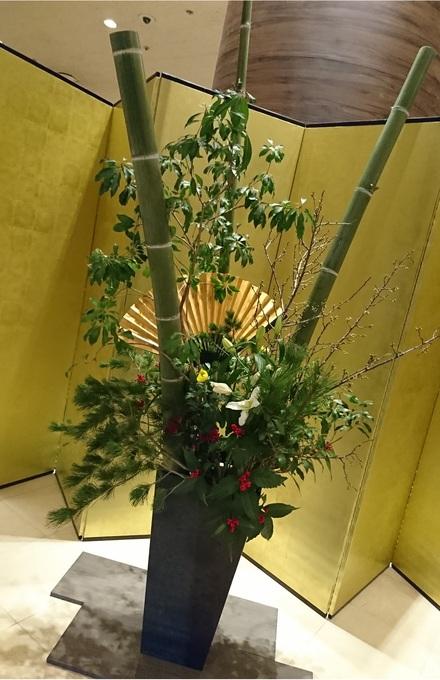 成田エクセルホテル東急の正月飾り