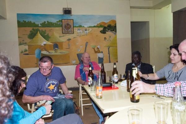 Beim Absacker-Bier
