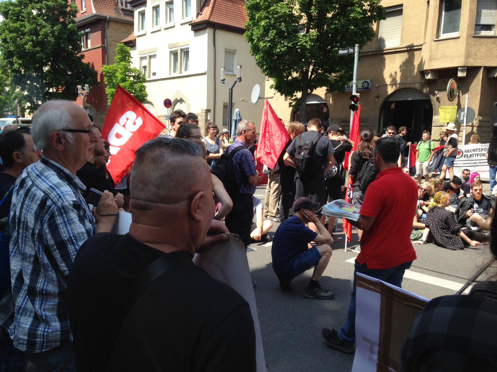 wider die  Demo der AfD-Jugend