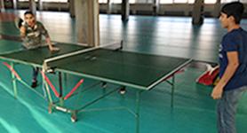 05.02.16. Tischtennisplatte für die Unterkunft Borsigstraße