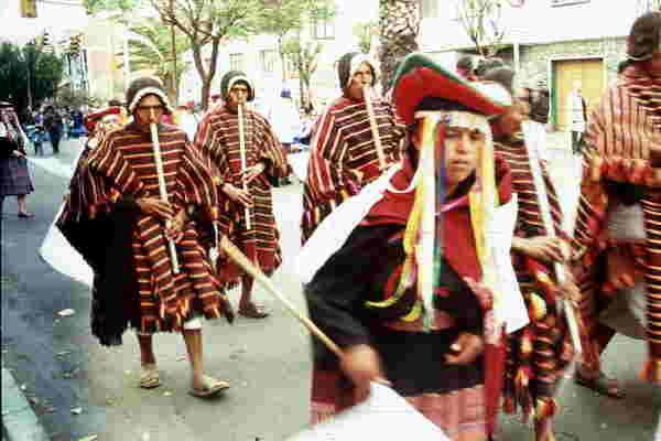 Umzug, Sucre, Bolivien