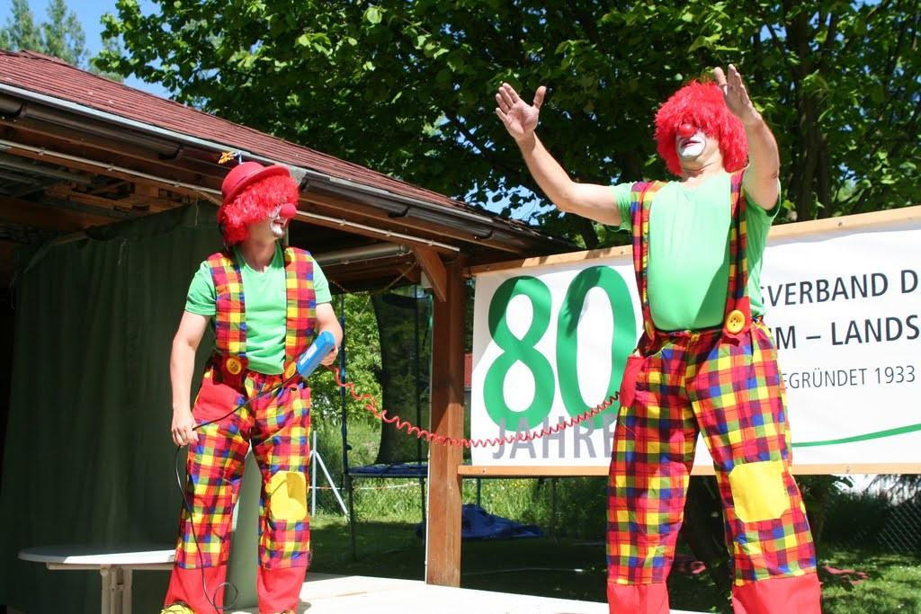 die Clowns Mathias und Ingo