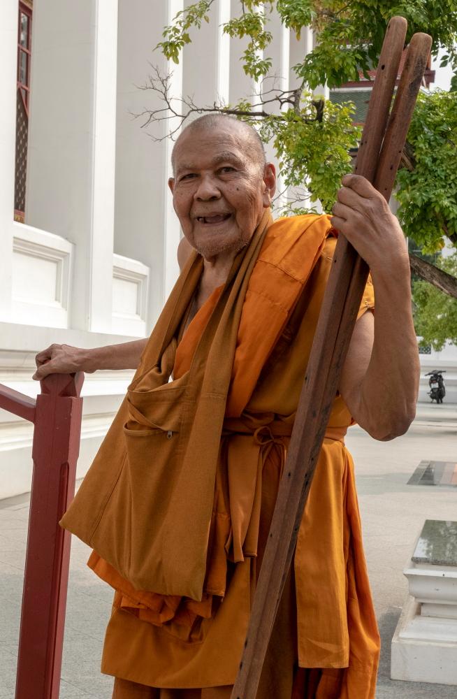Budistų vienuolis prie Metalinės šventyklos