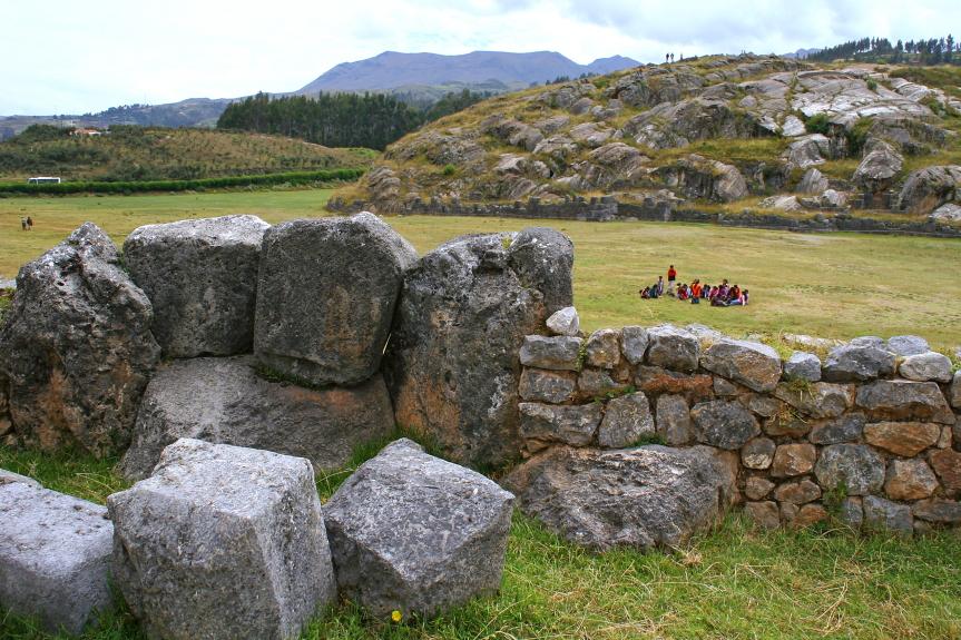 Saksaivamano tvirtovės akmenys prie Kusko