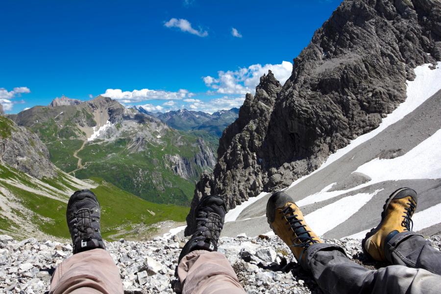 Poilsis kalno viršūnėje atperka visus vargus / Foto: Kristina Stalnionytė