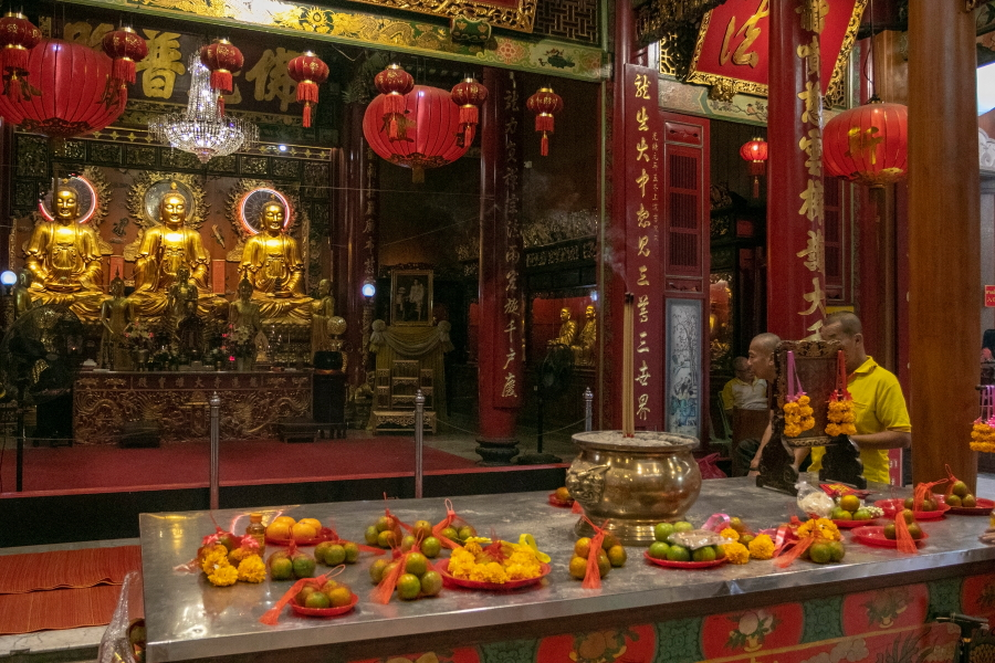 Wat Mangkon Kamlawat šventykloje / Foto: Kristina Stalnionytė