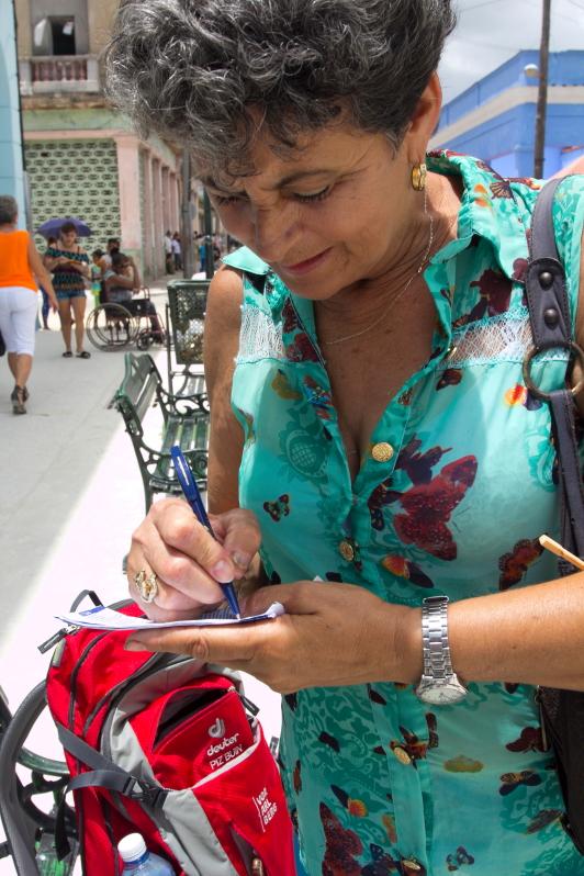 Moteris Sagua la Grande mieste Kuboje