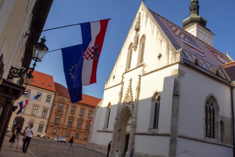 Šv. Morkaus aikštė ir bažnyčia Aukštutiniame Zagrebe