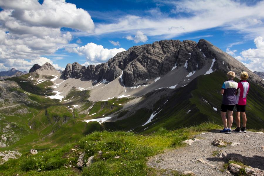 Arlbergo Alpės Lech Zurs am Arlberg vasarą