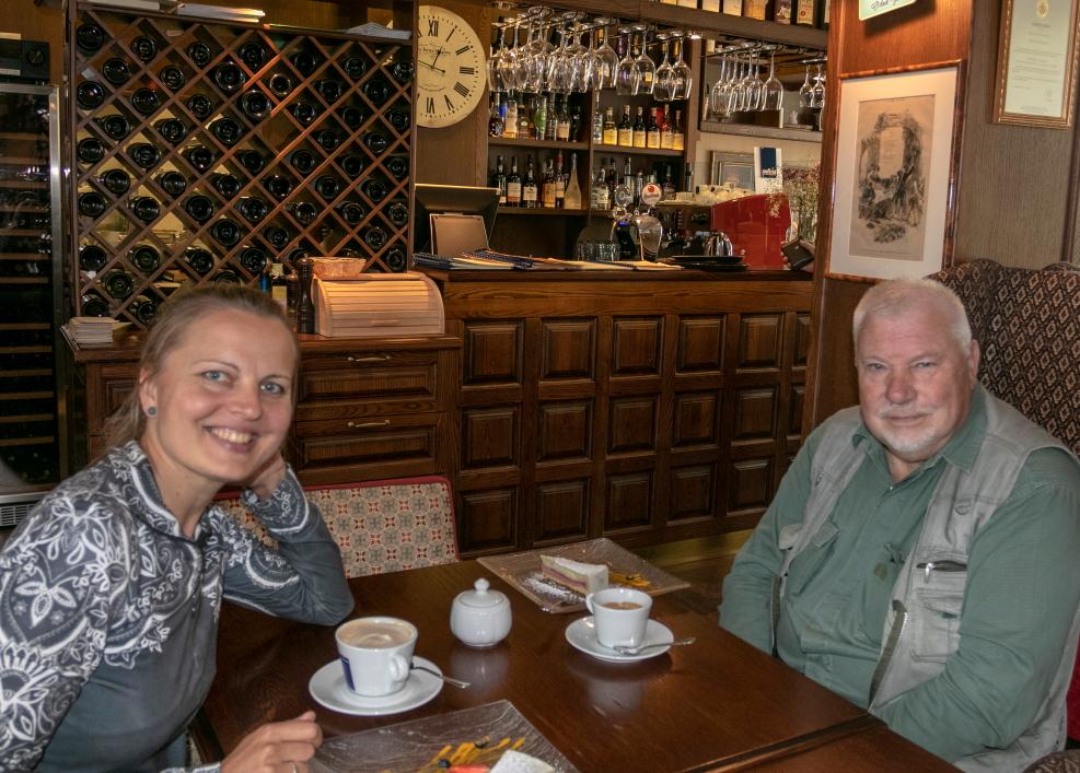 Jonas Pleckevičius ir Kristina Stalnionytė Utenos restorane Burgundija