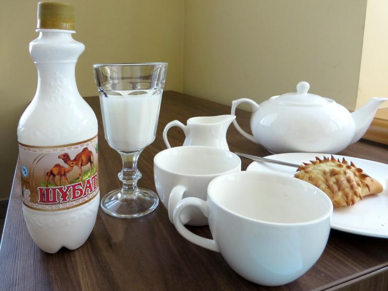 Stiklinė kumelės arba kupranugarės pieno ryte - kazachų sveikatos receptas / Foto: Kristina Stalnionytė