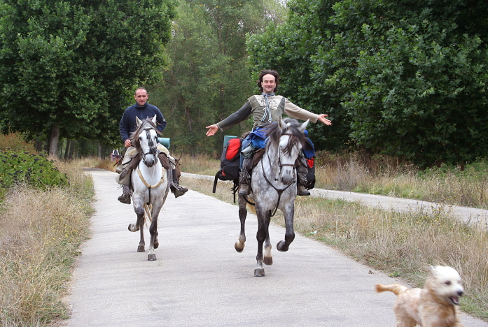 Ne visi piligrimai į Santjagą eina pėsčiomis / Foto: Kristina Stalnionytė