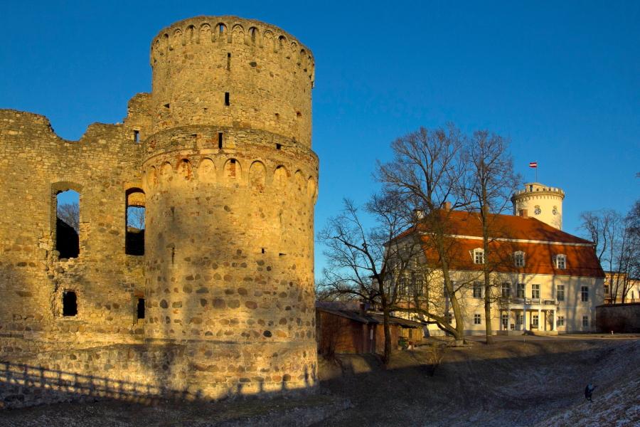 Senoji ir Naujoji Cėsių pilys / Foto: Kristina Stalnionytė