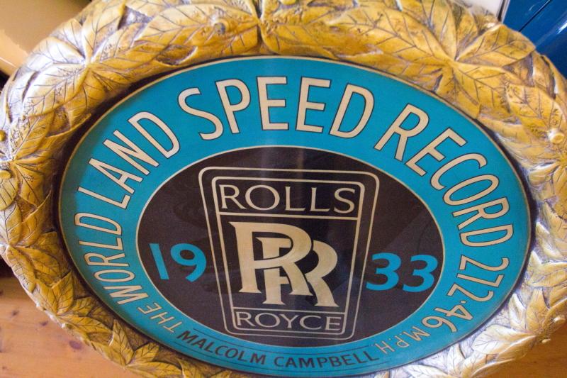 Rolsroisų muziejus Dornbirne Austrijoje - world speed record Malcolm Campbell