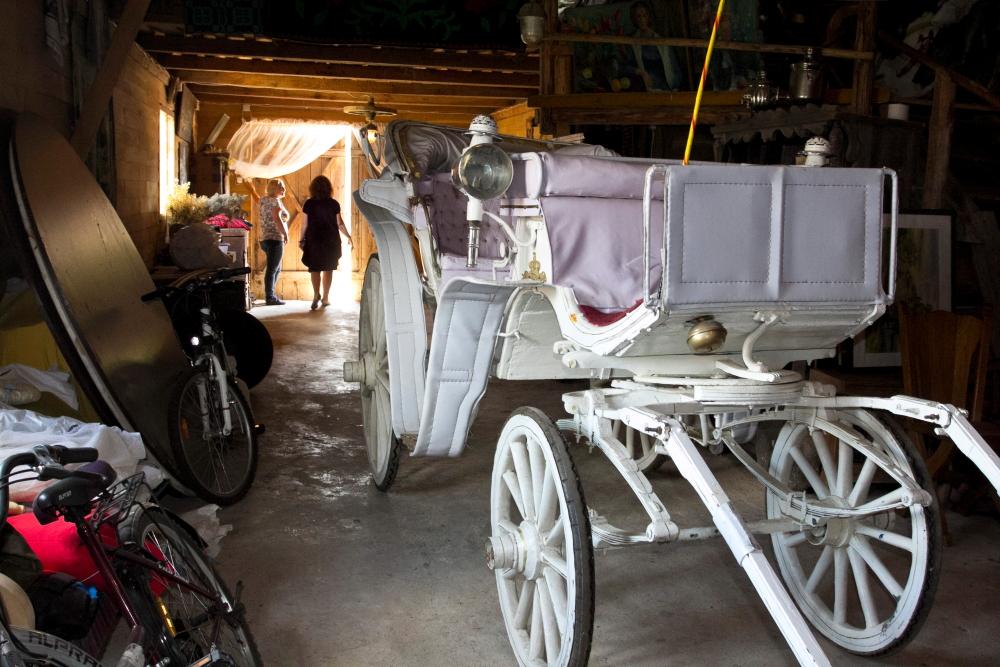 Naujausias būsimo Jovarų sodybos žirgų muziejaus eksponatas karieta