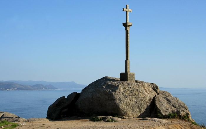 Kryžius piligrimams Žemės krašte Fisteroje / Foto: Kristina Stalnionytė