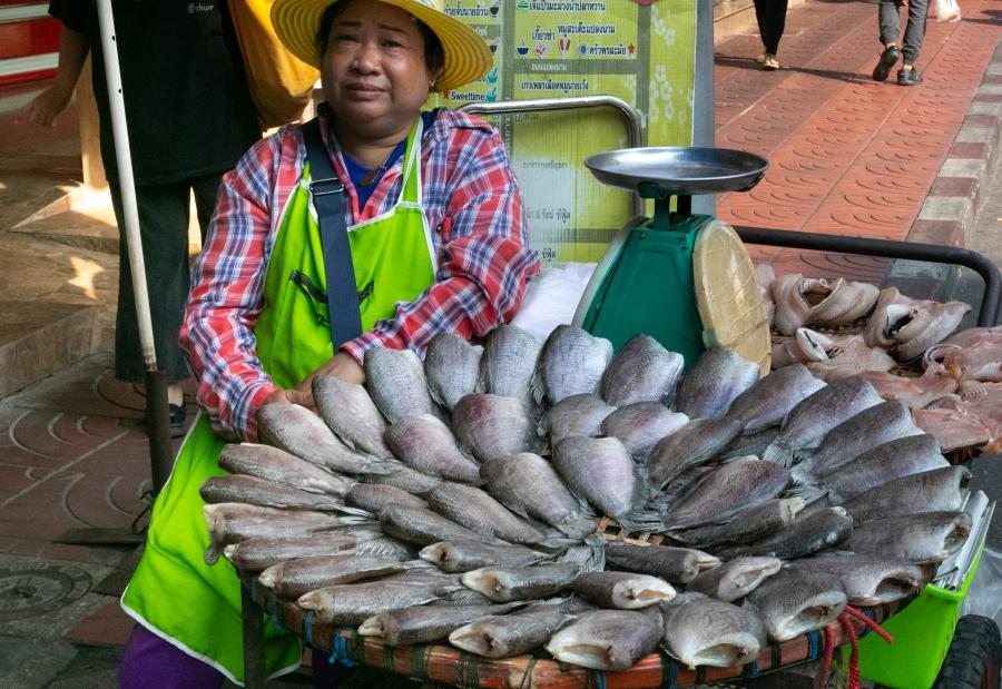 Žuvies pardavėja  / Foto: Kristina Stalnionytė