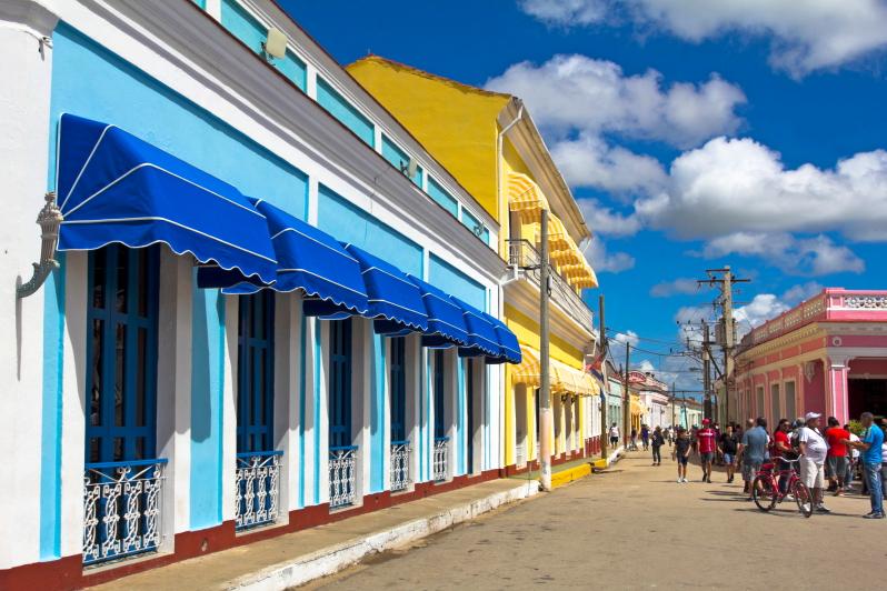 Kolonijinės architektūros Remedioso miestas Kuboje