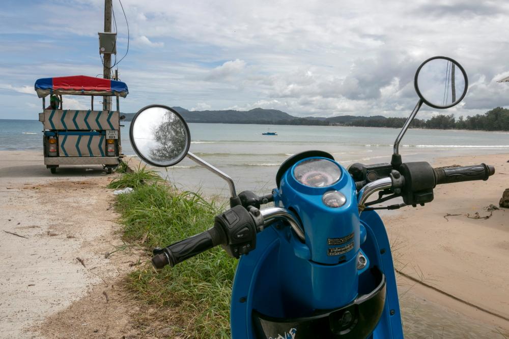 Bang Tao paplūdimys Pukete Tailande