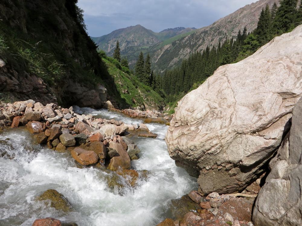 Komsomolkos upė ir Talgaro perėja - Almaty