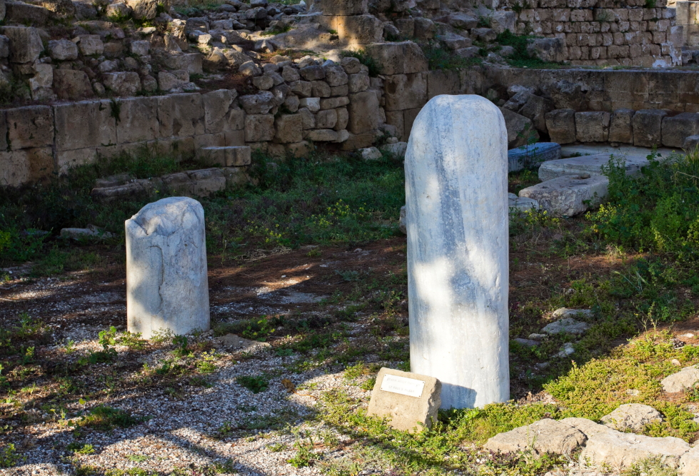 Šv. Pauliaus stulpas prie Agia Kyriaki bažnyčios Pafose Kipre