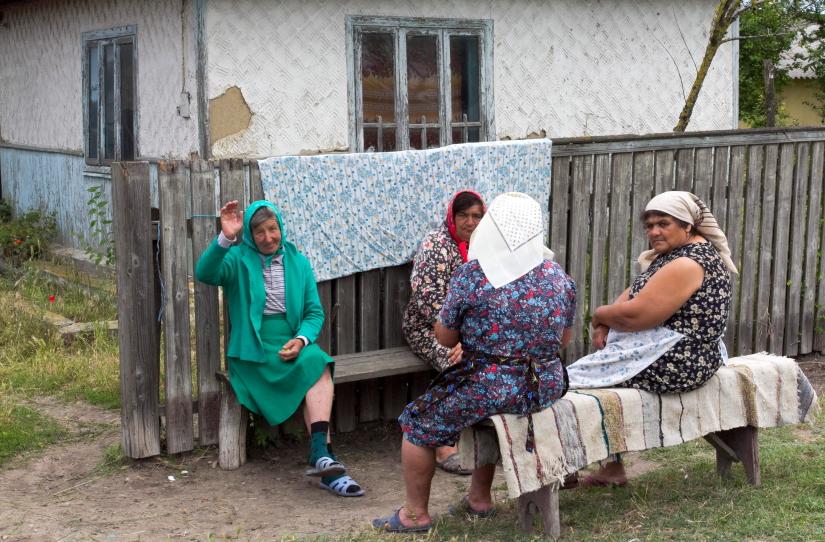 Letėjos kaimo gyventojos Dunojaus deltoje / Foto: Kristina Stalnionytė