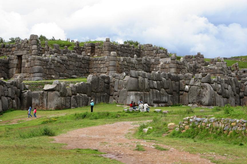 Inkų pastatyta Saksaivamano tvirtovė Peru