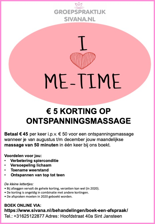 ME-time massage Groepspraktijk Sivana.nl