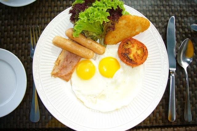 高級な朝ごはんも食べられます。
