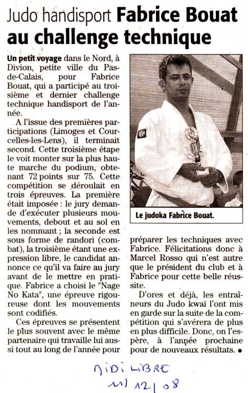 11 Décembre 2008 (Midi Libre): Fabrice Bouat au Challenge Technique