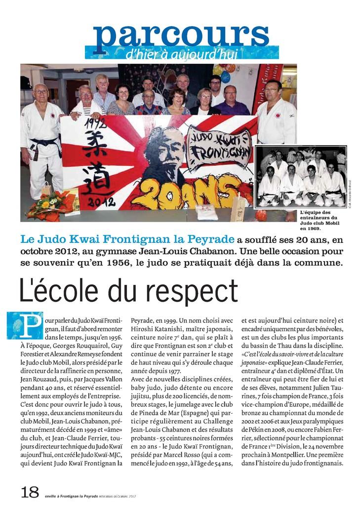 Mag. Novembre / Décembre 2012 (En Ville En Vie - Frontignan): L'école du respect